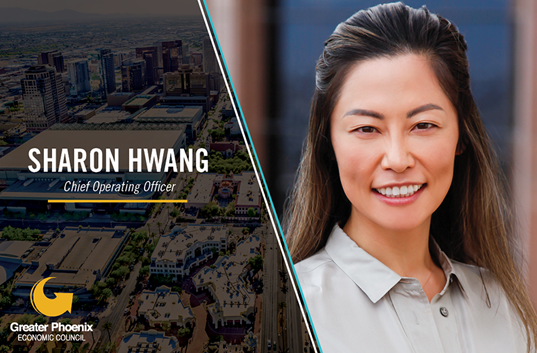 The Greater Phoenix Economic Council (GPEC) is pleased to announce the hiring of Sharon M. Hwang as Chief Operating Officer. In this role, Hwang oversees daily operations of GPEC and prioritizes initiatives and projects for the organization.